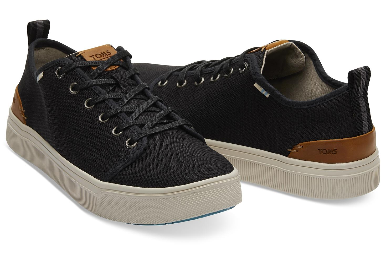 94466975d56 TOMS - Black Heritage Canvas Mens Trvl Lite Low Sneakers for Men - Lyst.  View fullscreen
