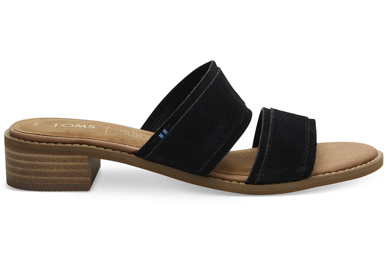 c2cf3efa313 Lyst - TOMS Black Suede Women s Mariposa Sandals in Black