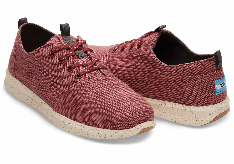 124462b8402 TOMS - Multicolor Pomegranate Slubby Linen Men s Del Rey Sneakers for Men -  Lyst. View fullscreen