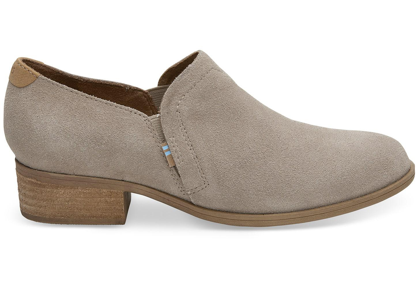 cc47459a5db Lyst - Toms Desert Taupe Suede Women s Shaye Booties for Men