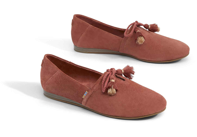 516abaf7d99 TOMS - Brown Spice Suede Women s Kelli Flats - Lyst. View fullscreen