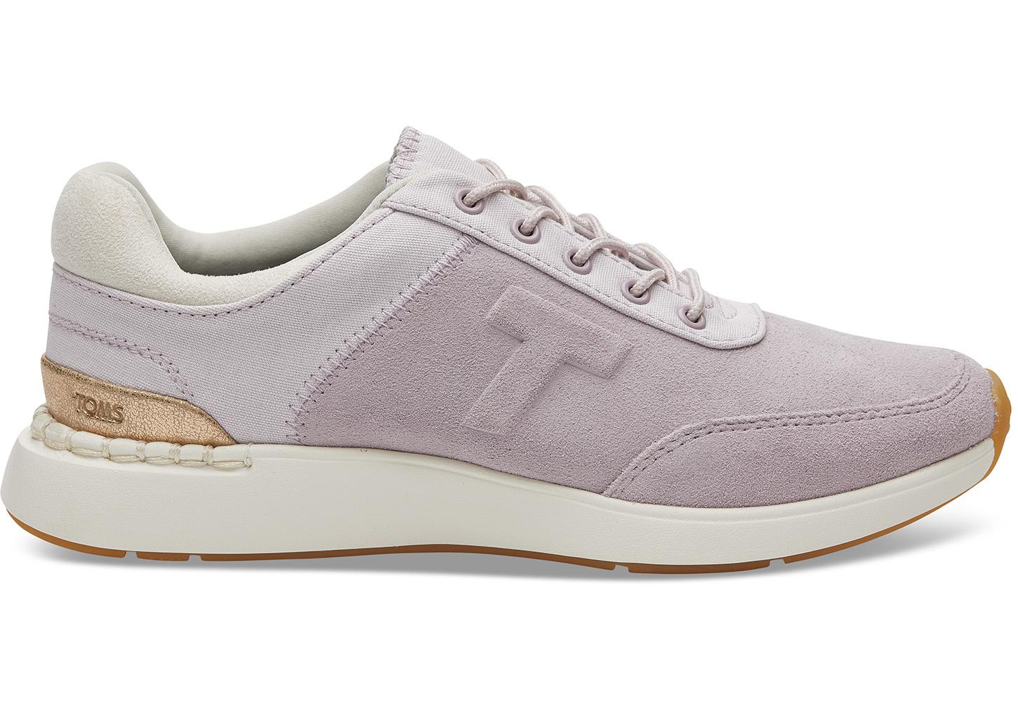 1a25334787c1 Lyst - TOMS Lilac Suede And Canvas Arroyo Women s Sneakers