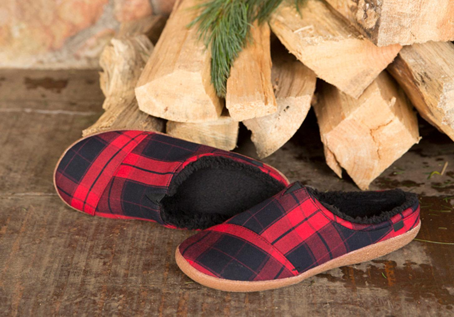 a4b9ee21446 Lyst - TOMS Red Plaid Men s Berkeley Slippers for Men