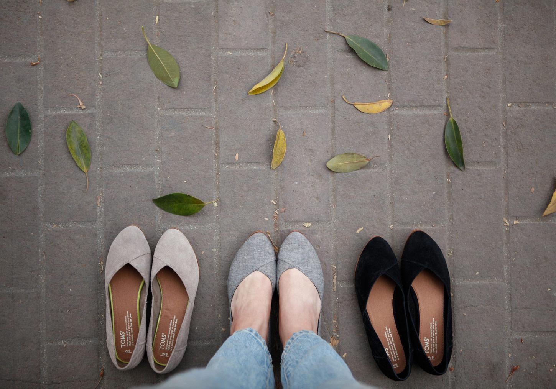 Blue Flat Shoes W