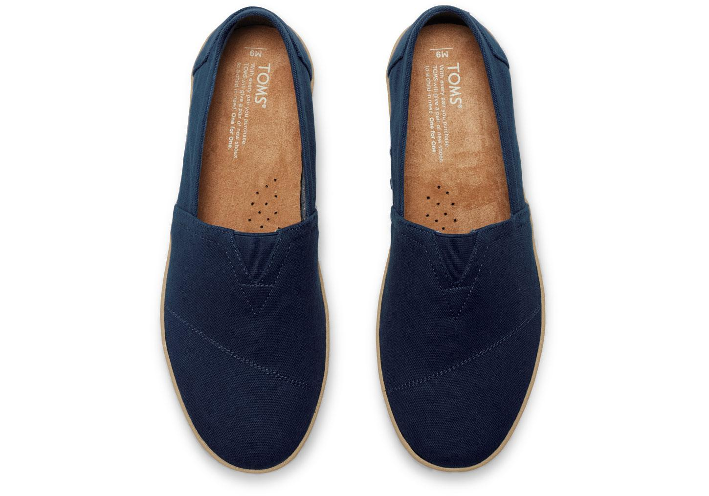 9ebbf9f1128 TOMS Navy Canvas Men s Avalon Slip-ons in Blue for Men - Lyst