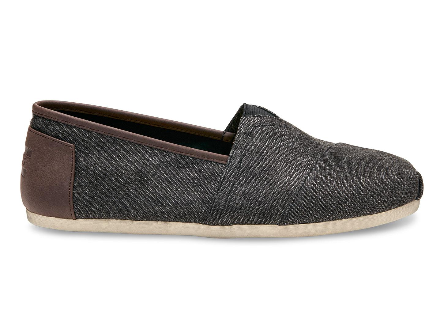 TOMS. Charcoal Herringbone Men's Classics