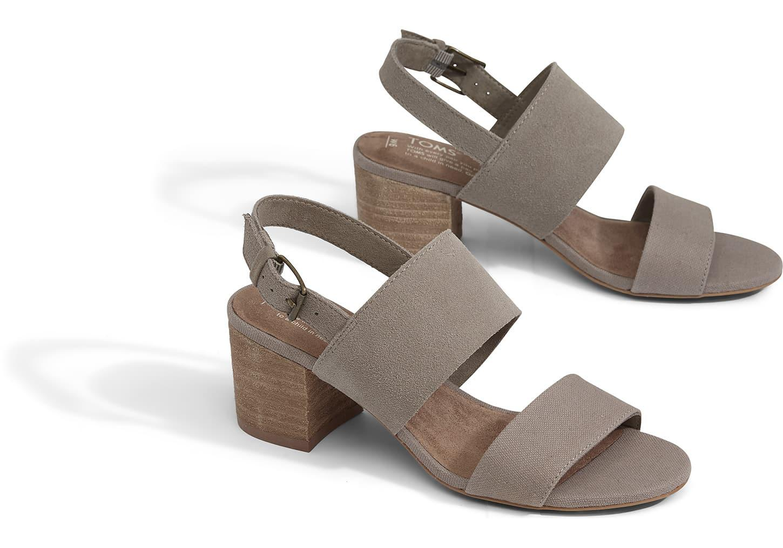 ba4bdbc10d3 TOMS - Multicolor Desert Taupe Suede Oxford Women s Poppy Sandals - Lyst.  View fullscreen