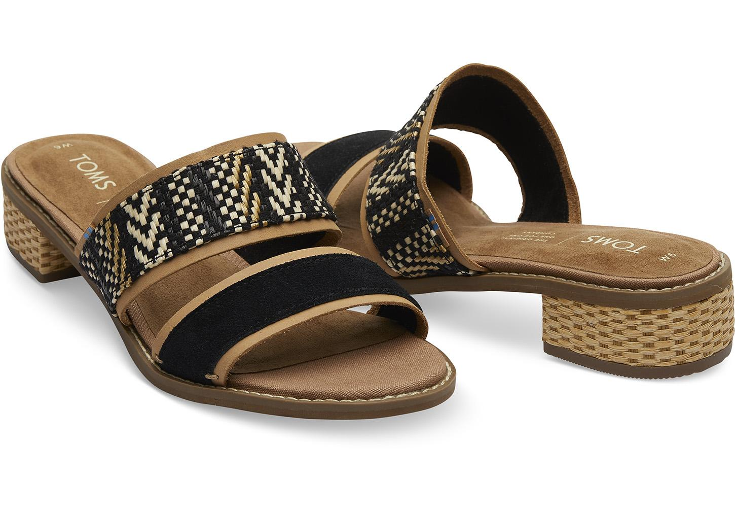 a499e653001 TOMS - Mariposa (black Suede) Women s Sandals - Lyst. View fullscreen