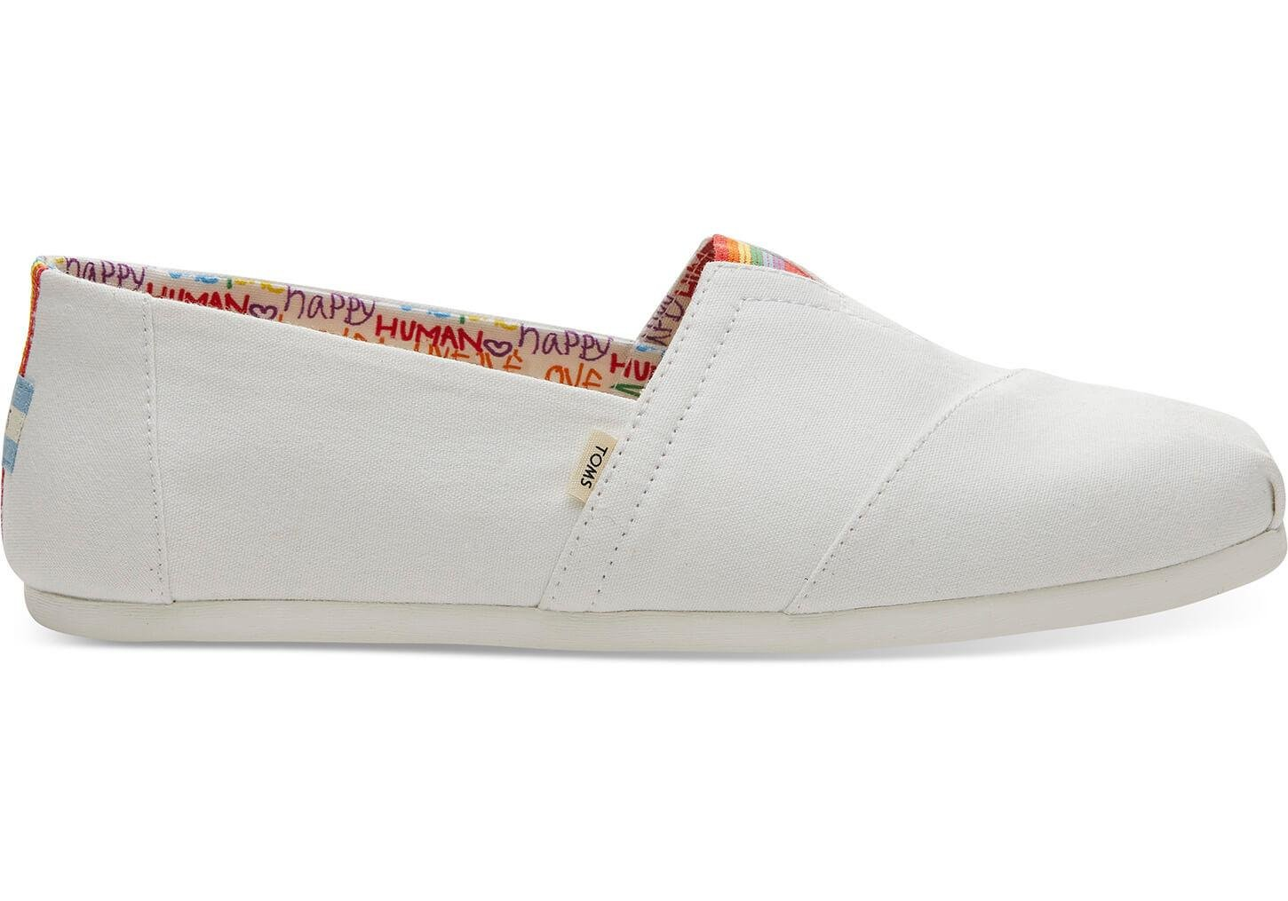 Lyst - TOMS White Canvas Unity Mens Classics in White for Men