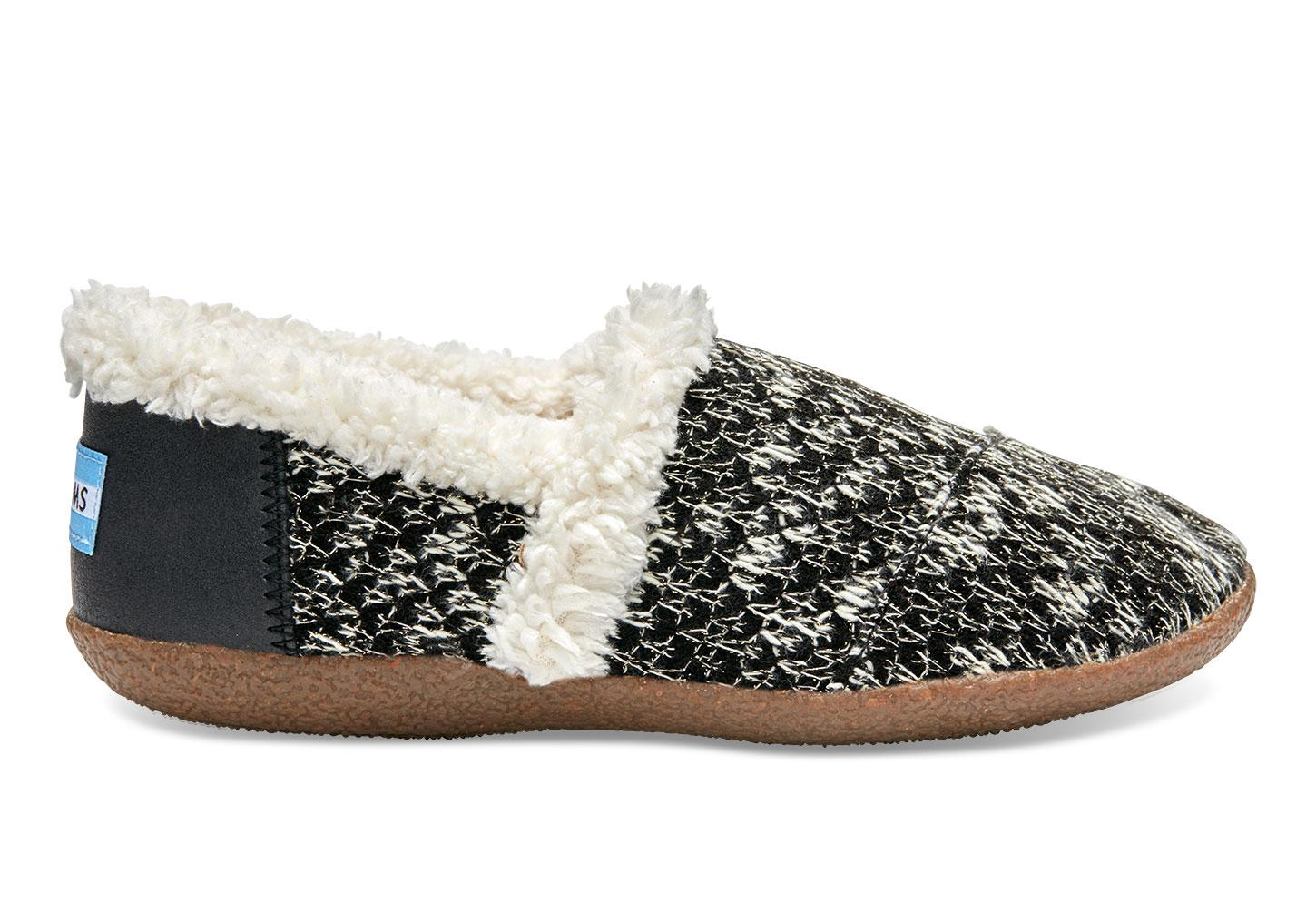 Toms Sparkle Knit House Slippers In Black Lyst