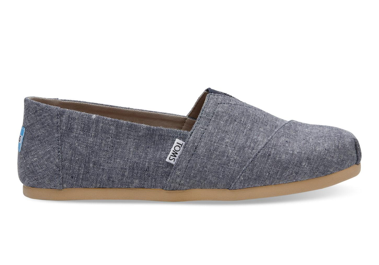 Toms Navy Slub Chambray Mens Classics In Blue For Men Lyst