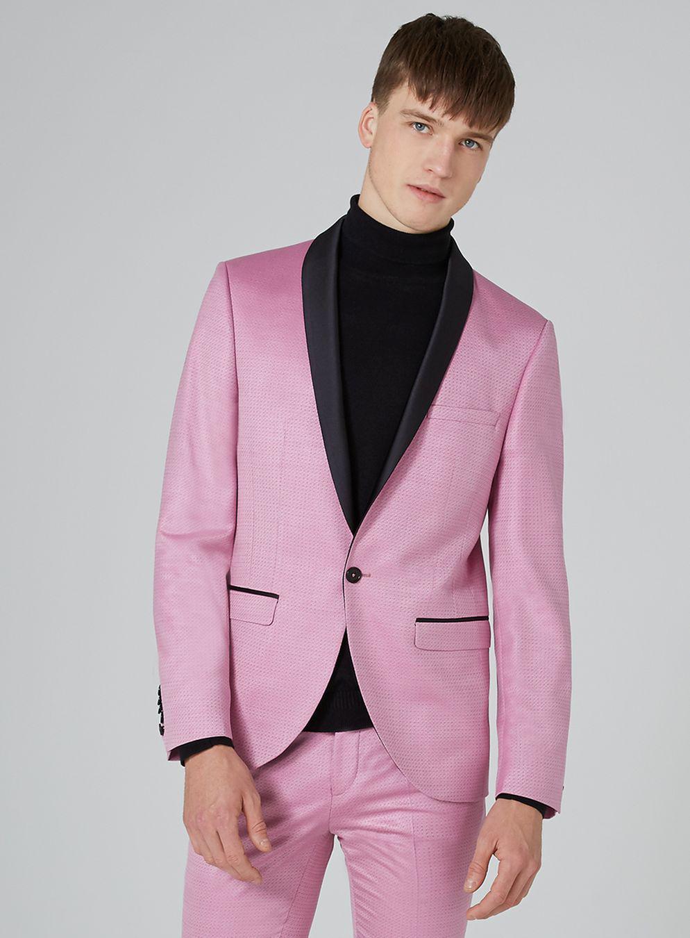 Lyst - Topman Noose & Monkey Pink \'spice\' Tuxedo Blazer in Pink for Men