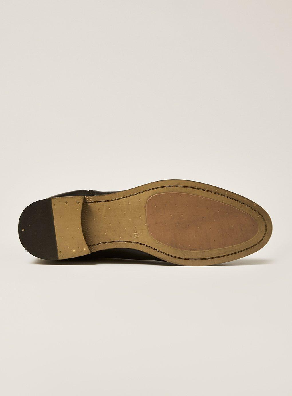 e865b1d462f Lyst - TOPMAN Leather Track Chelsea Boot in Black for Men