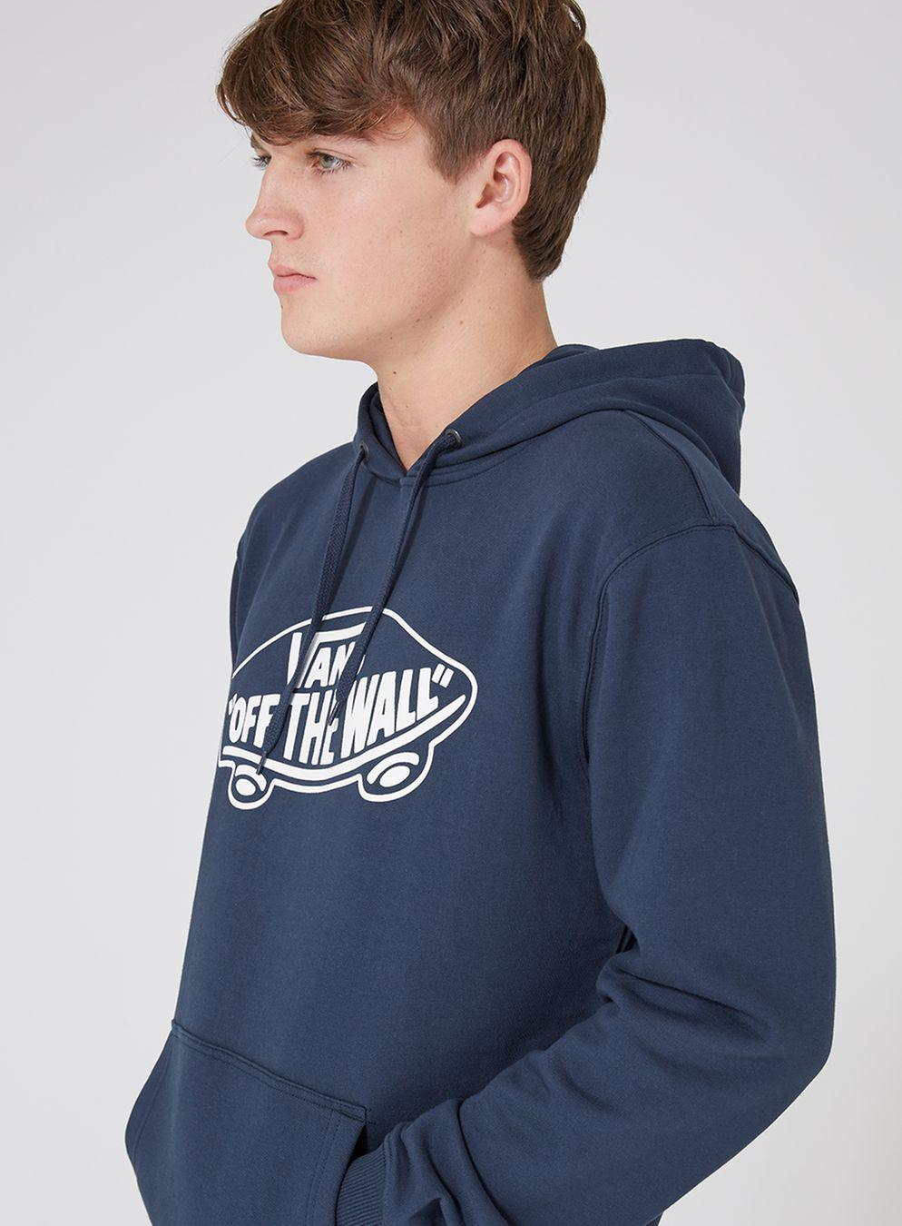 5d98280856ca92 TOPMAN Vans Navy  off The Wall  Fleece Hoodie in Blue for Men - Lyst