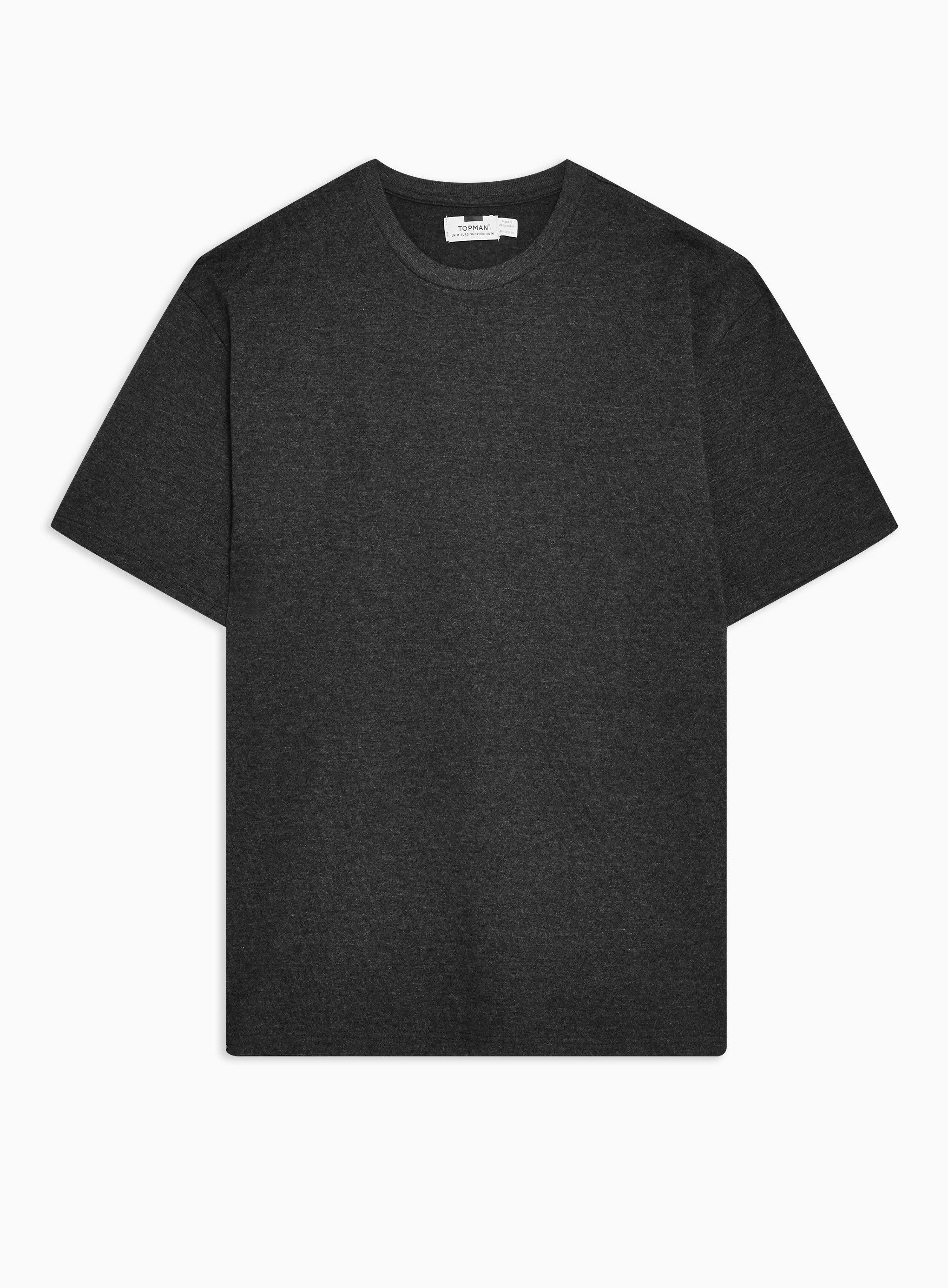 3ffada70 Topman - Gray Charcoalmarl Oversized T-shirt for Men - Lyst. View fullscreen