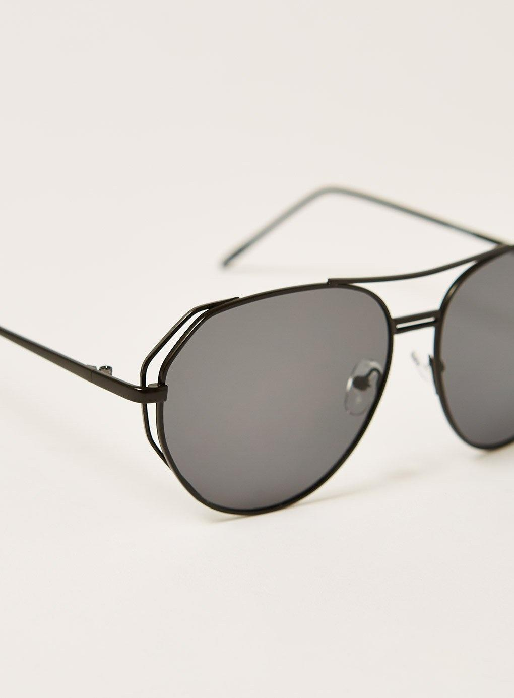 aa35093c272 Lyst - Topman Jeepers Peeperscut Out Sunglasses in Black for Men