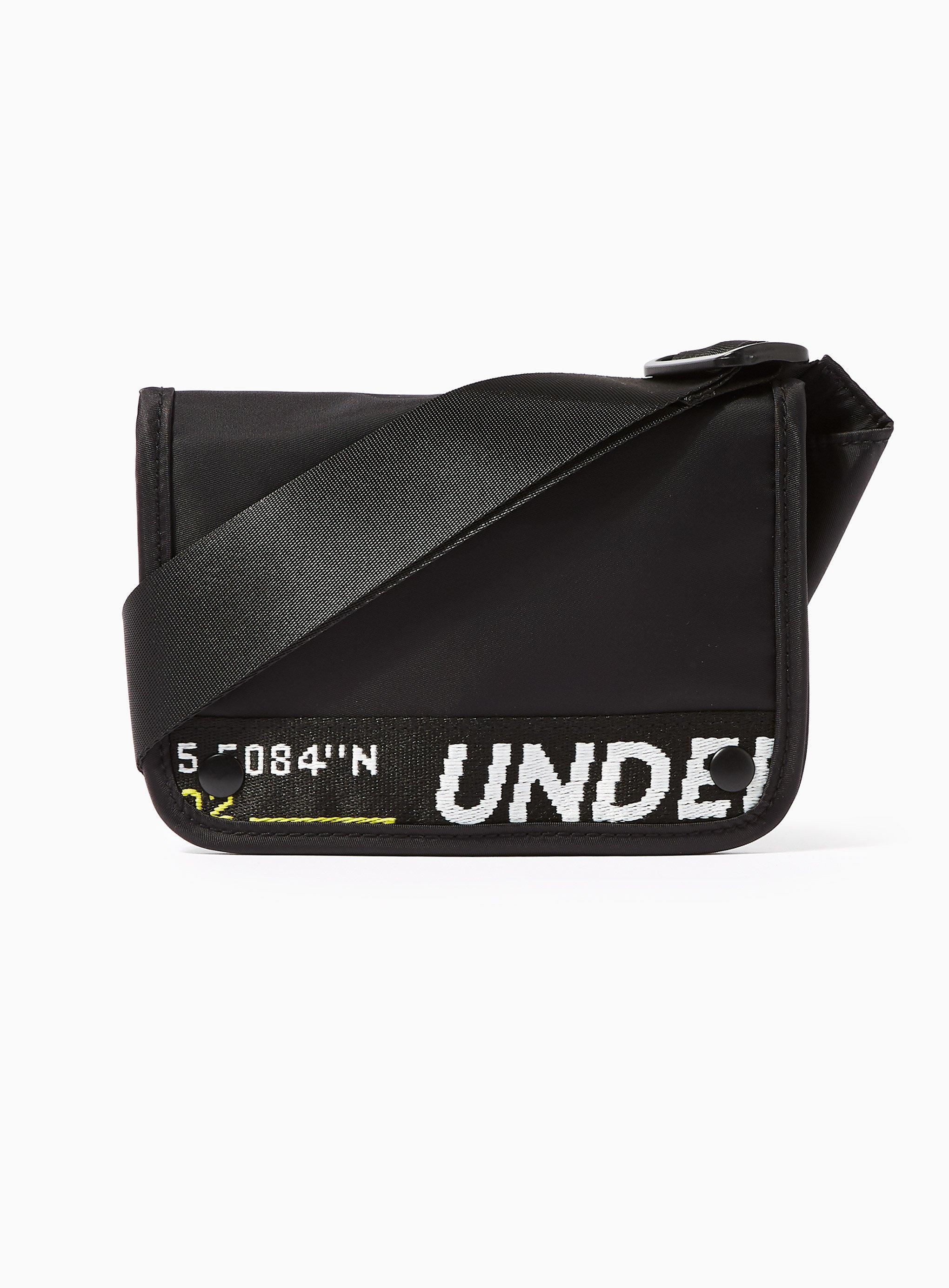 fcd305db14 Lyst - TOPMAN Mini Text Cross Body Bag in Black for Men