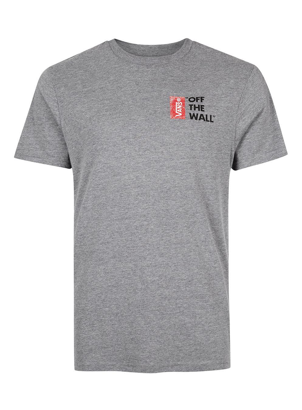 86d50a7f098477 Topman Vans Off The Wall T-shirt in Gray for Men - Lyst