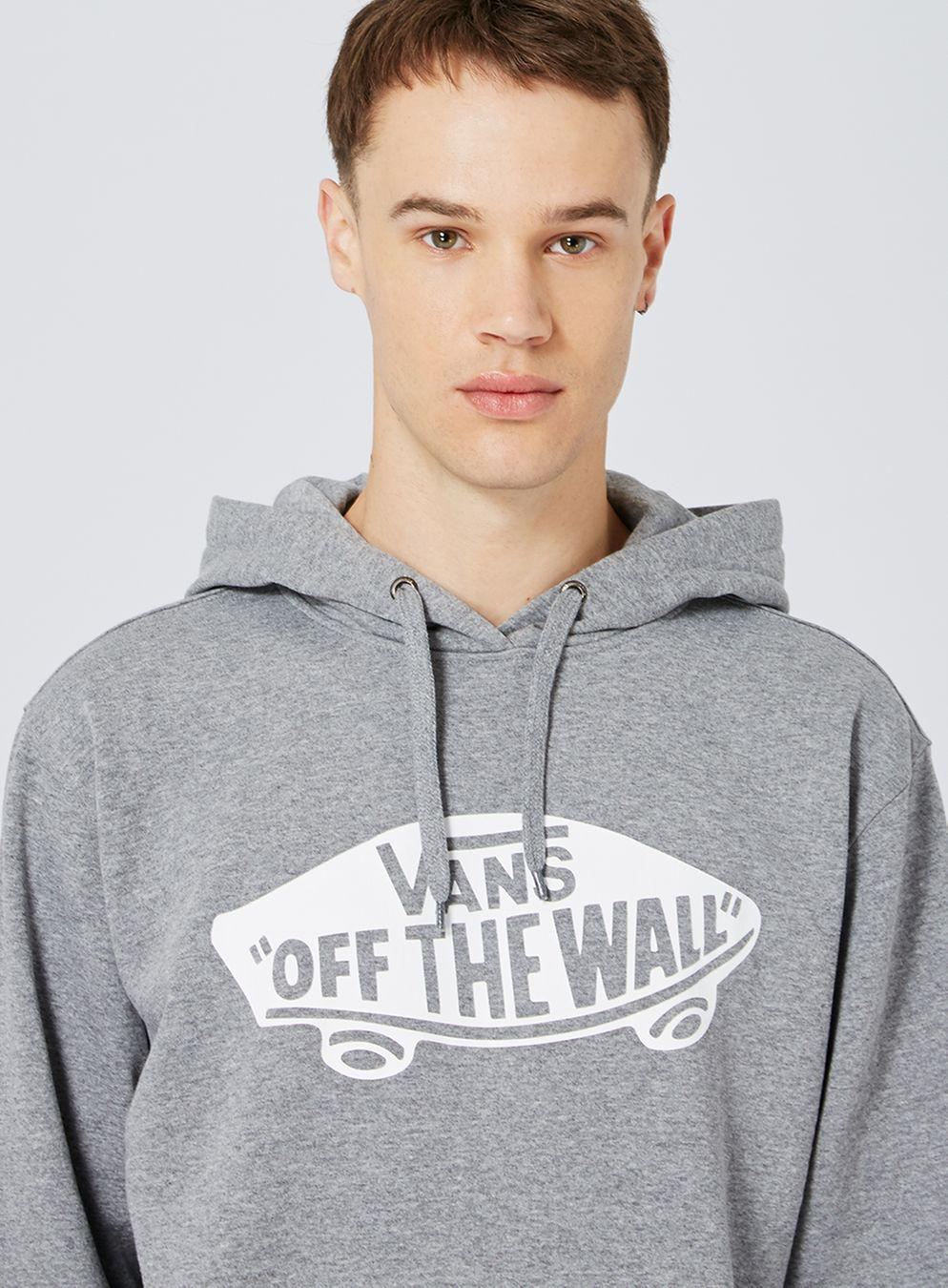 6cef4ca7e3ab89 TOPMAN Vans Grey Marl Skateboard Hoodie in Gray for Men - Lyst