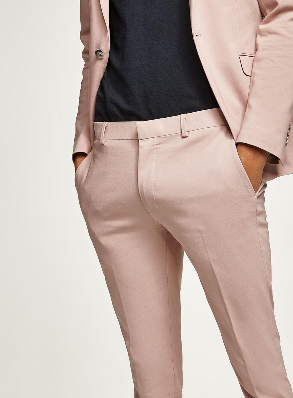 Topman Dusty Rose Skinny Suit Pant in Pink for Men - Lyst