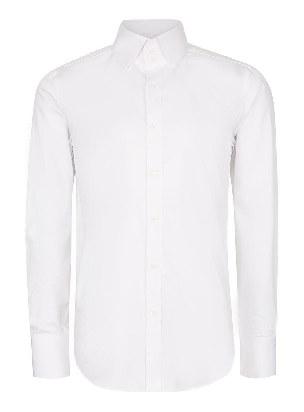 Lyst Topman White Egyptian Cotton Triple Button Collar