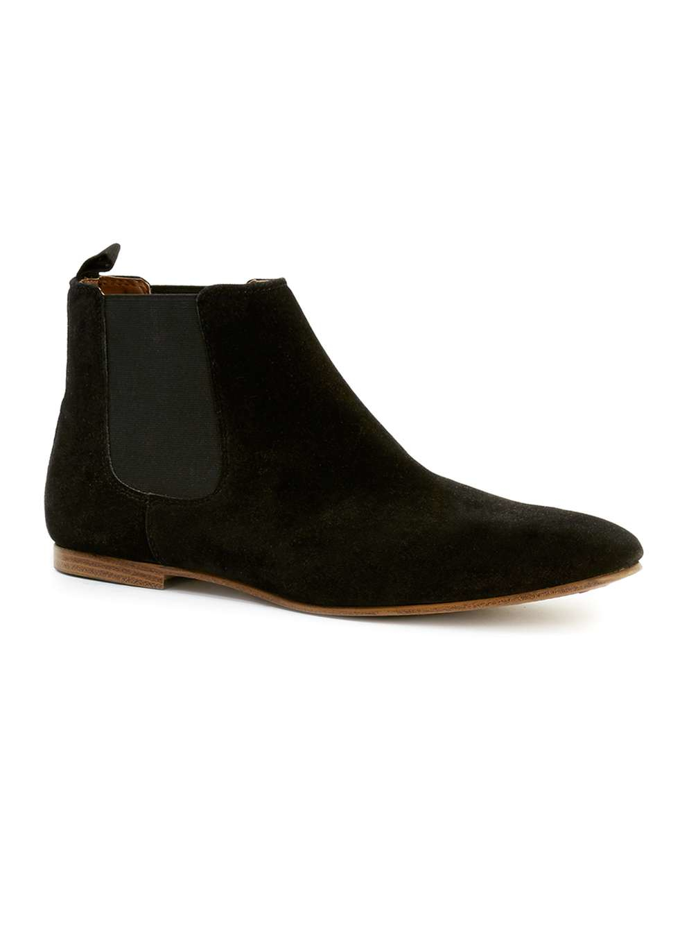 topman black faux suede chelsea boots in beige for men black lyst. Black Bedroom Furniture Sets. Home Design Ideas