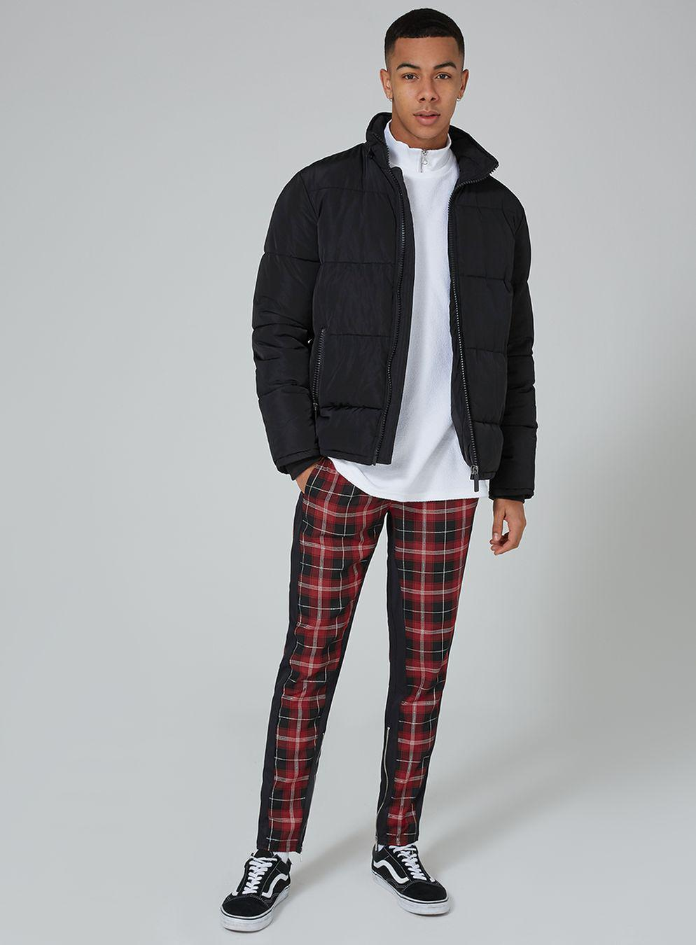 Granted Red Tartan Trouser In Red For Men Lyst