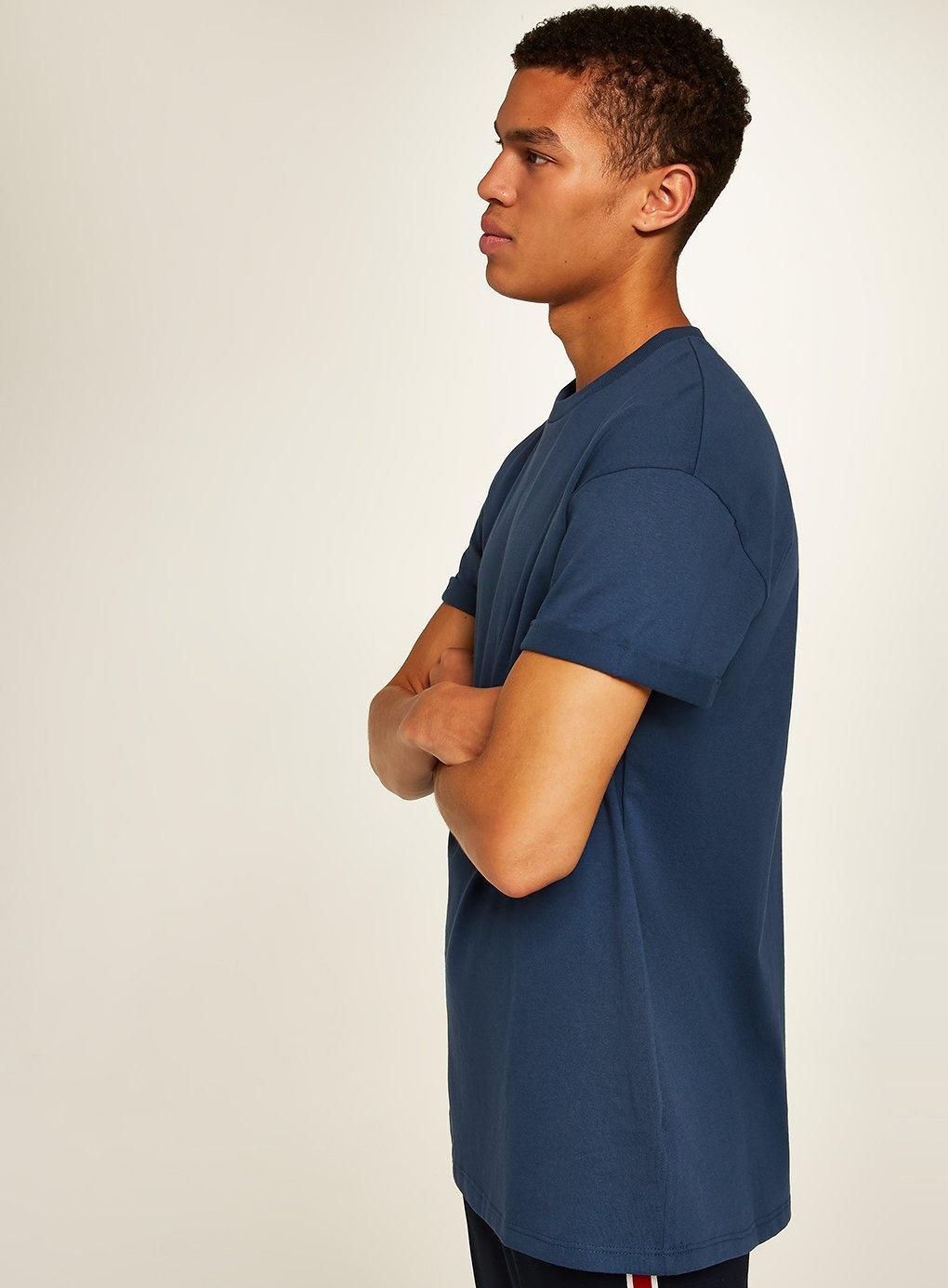 2f60c4f4 TOPMAN Navy Oversized Roller T-shirt in Blue for Men - Lyst