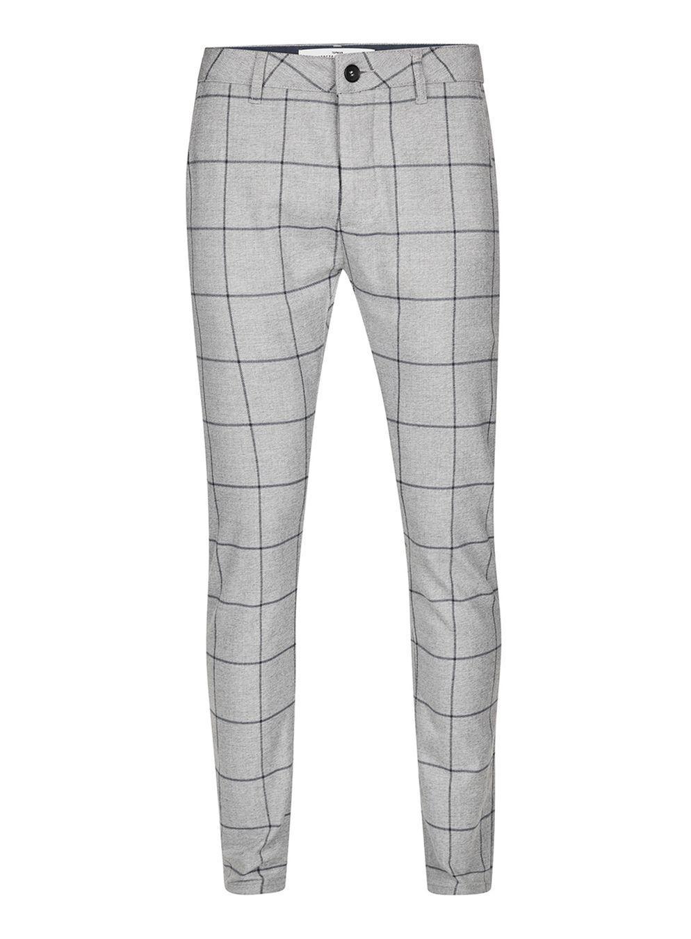 ec3d632a14 TOPMAN Grey Check Stretch Skinny Trouser in Gray for Men - Lyst