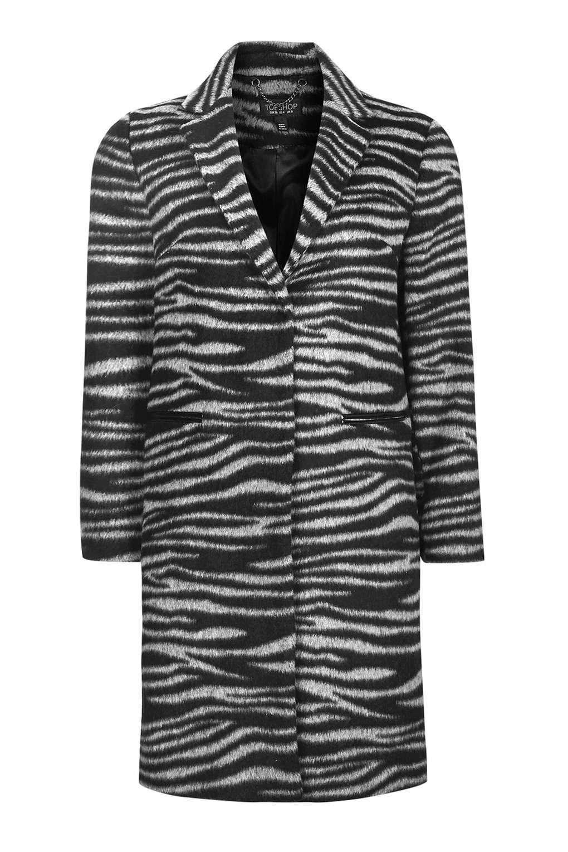 Lyst Topshop Zebra Print Coat