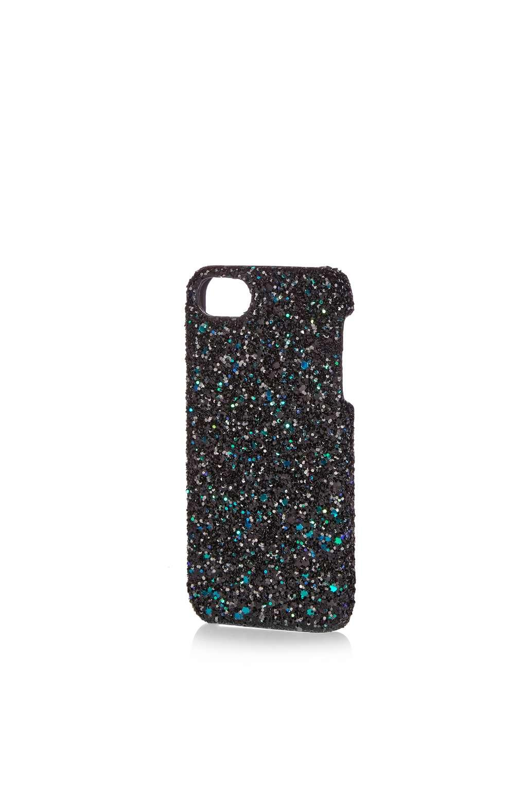 glitter iphone 5 case topshop glitter iphone for 5 5s in black lyst 7919