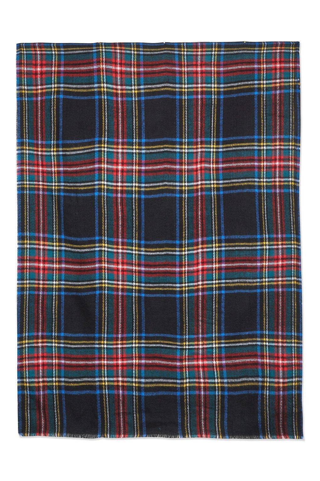 32a21c2c4 Lyst - TOPSHOP Traditional Check Scarf