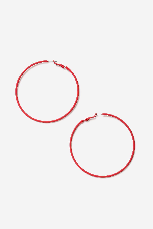 c2c3b2c44 Lyst - TOPSHOP Red Hoop Earrings in Red