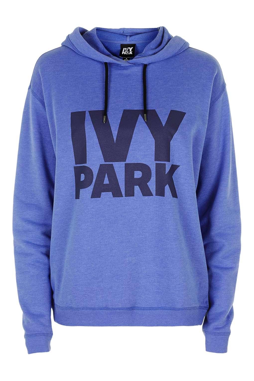lyst topshop ivy park logo pullover hoodie by ivy park. Black Bedroom Furniture Sets. Home Design Ideas