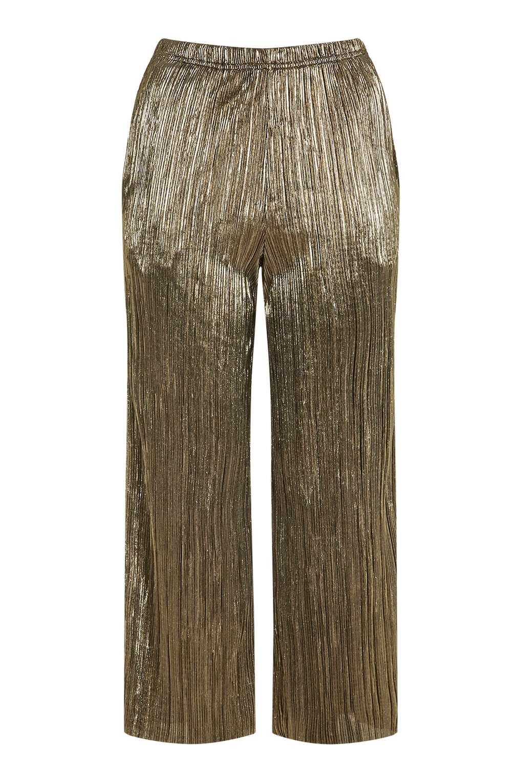 Topshop Petite Metallic Trousers in Metallic