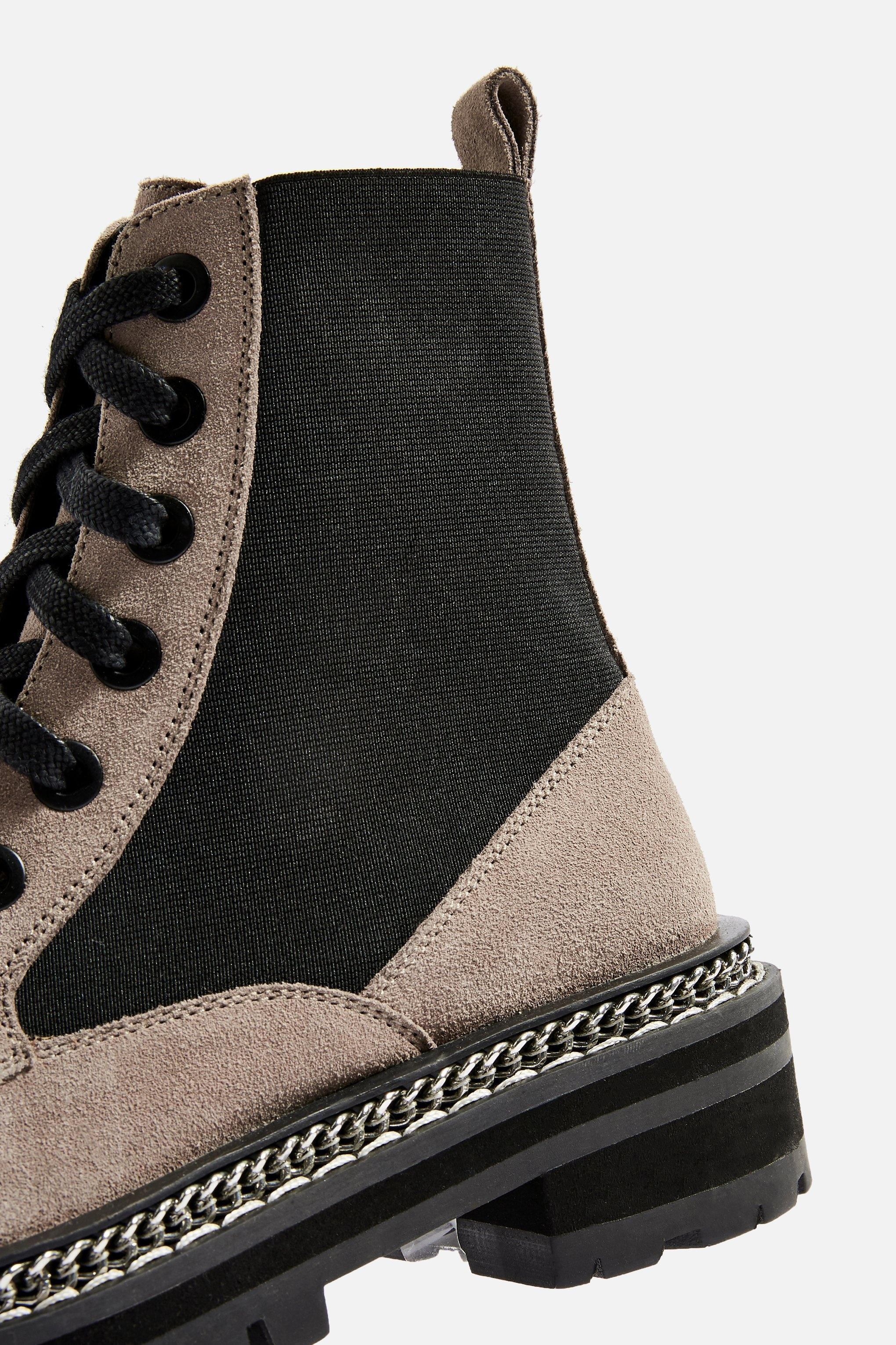 0d201367880d Lyst - TOPSHOP Ashton Low Ankle Boots in Gray