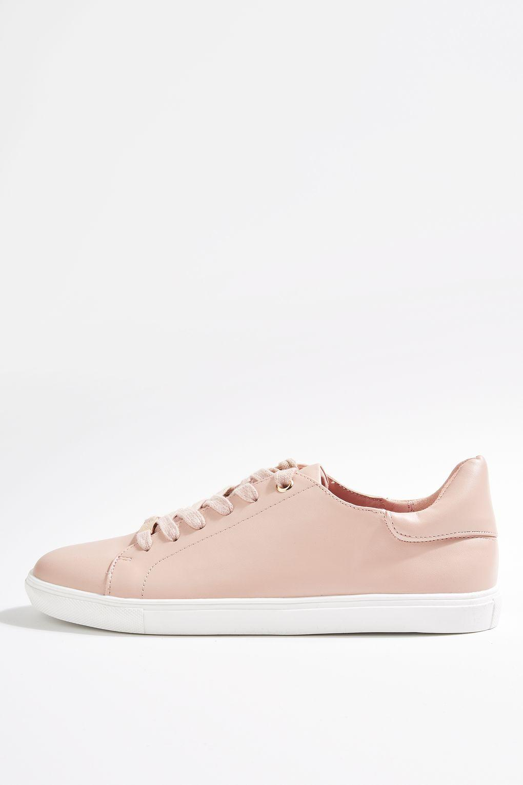 Topshop / CATSEYE2 Lace Up Trainers / Nude