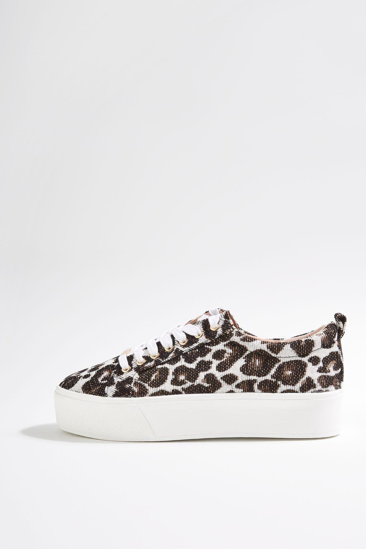 para toda la familia donde puedo comprar comprar nuevo TOPSHOP Multicolor Chica Leopard Flatforms