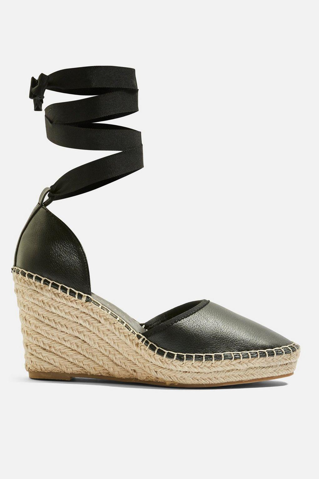 f103ddf9b818 Topshop Wide Fit Williams Espadrille Wedges in Black - Lyst