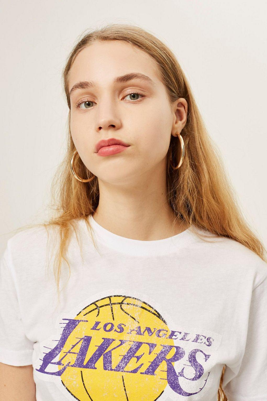 63ff76e8b91 Lyst - TOPSHOP Lakers Logo T-shirt By Unk X in White
