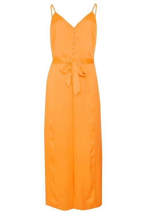 98f9c20917c7 Glamorous button Front Split Leg Jumpsuit By in Orange - Lyst