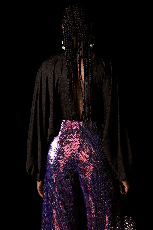 TOPSHOP - Black Bodysuit By X Halpern - Lyst. View fullscreen b7ef65d16