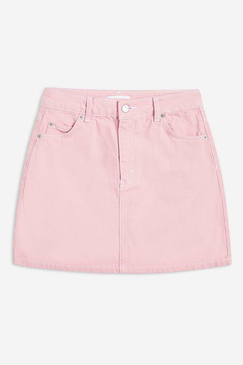 e06f82e2b TOPSHOP Sugar Pink Denim Skirt in Pink - Lyst
