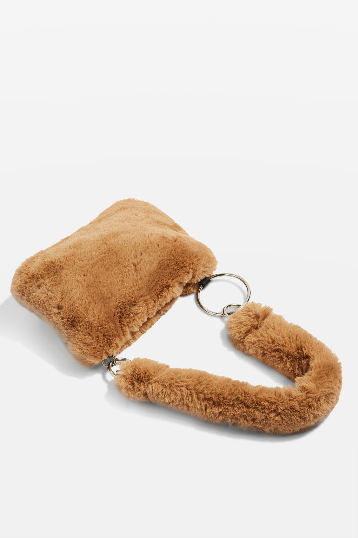 29bad02b8474 TOPSHOP Teddy Faux Fur Shoulder Bag - Lyst