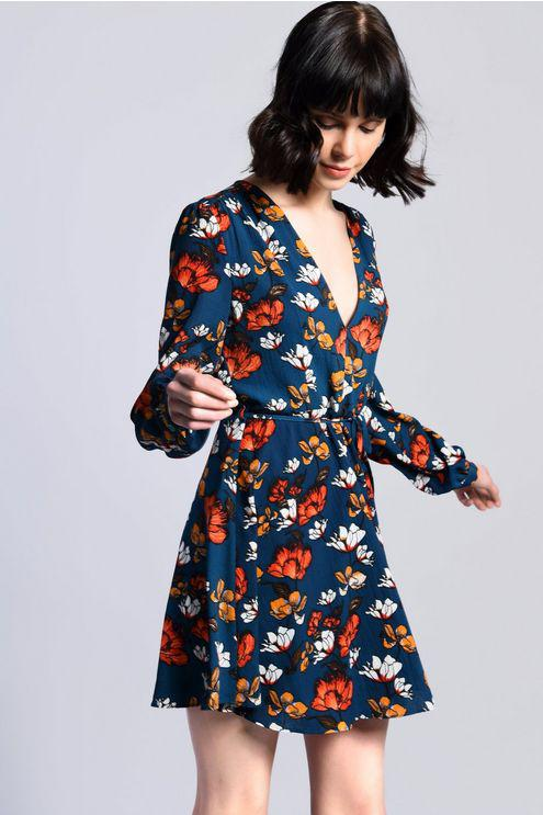 206fce6983 Topshop floral Skater Dress By Glamorous Petite in Blue - Lyst