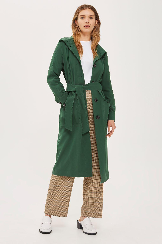 e90492a7d8e3 TOPSHOP Blouson Duster Coat in Green - Lyst