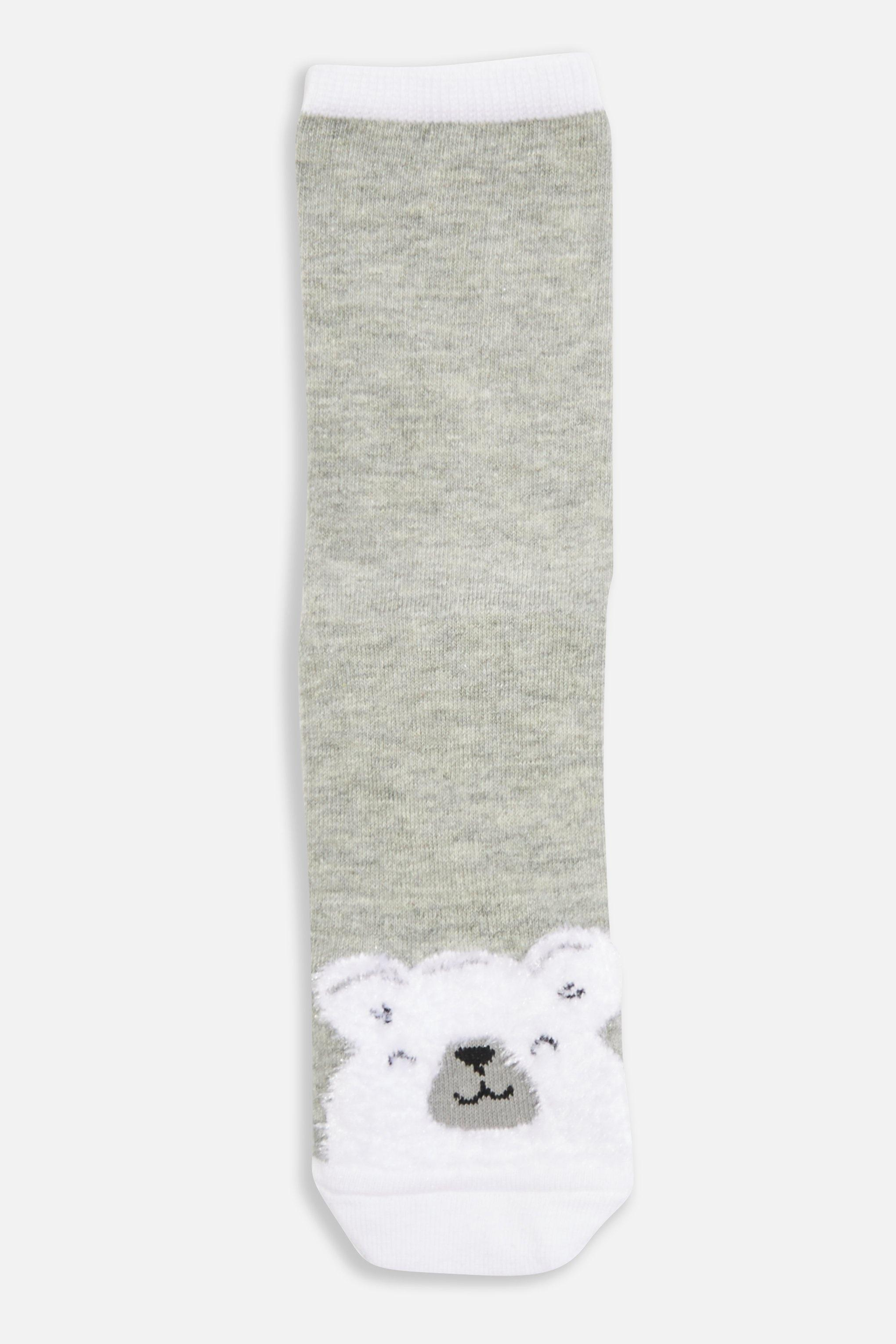 d38beb0c41e Lyst - TOPSHOP Christmas  polar Bear  Socks in Gray