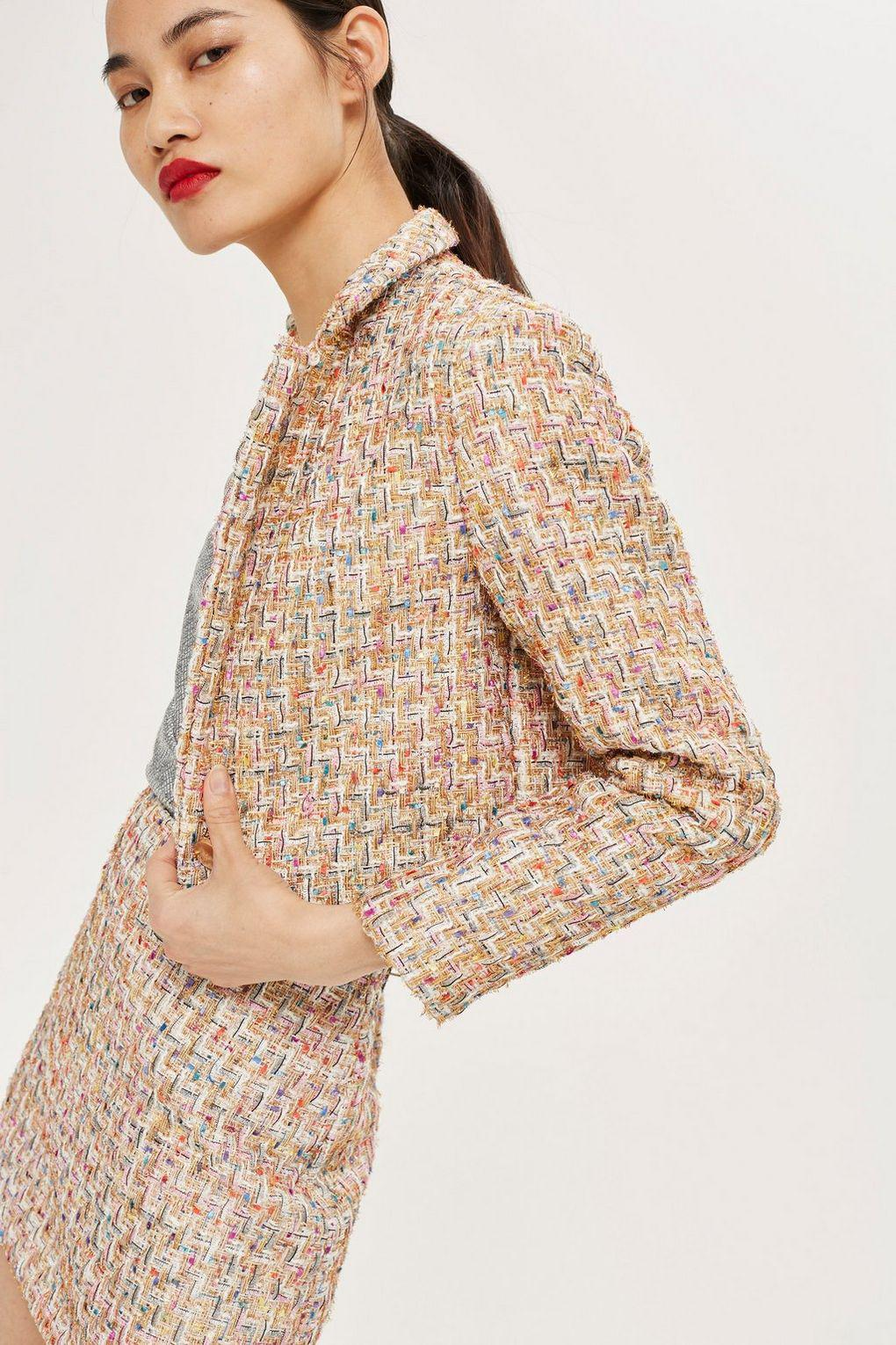 Topshop Synthetic Boucle Skirt