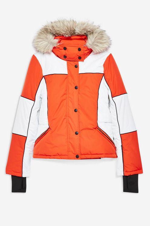59f5e7431f0c TOPSHOP - orange Colour Block Jacket By Sno - Lyst. View fullscreen