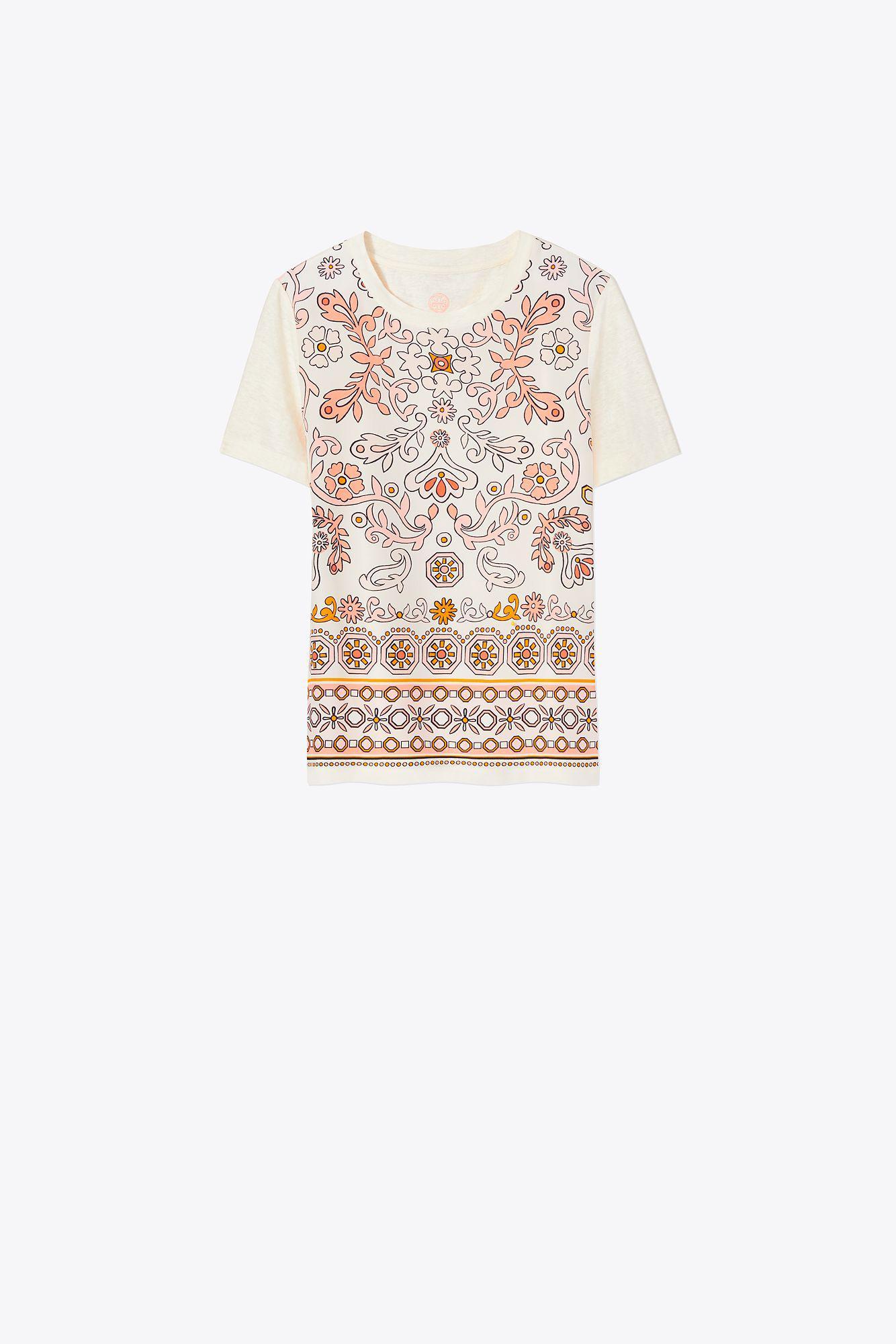 Tory Burch. Women's White Kayla T-shirt